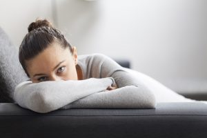 Image of a depressed woman. See a depression therapist and start to feel better soon.