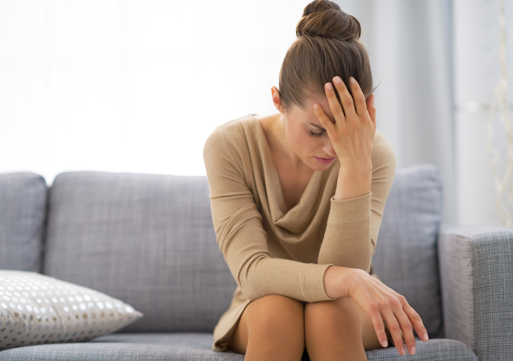 Image of woman in counseling office getting stress counseling