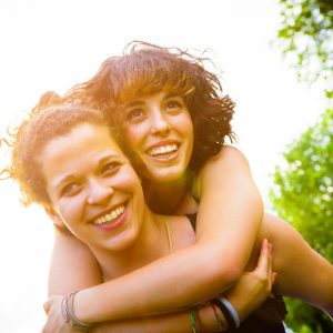 Image of happy lesbian couple